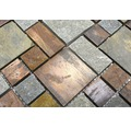 Natursteinmosaik XSK 595 braun/grau 30x30 cm