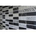 Natursteinmosaik STN 89 schwarz/silber30x30 cm
