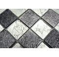 Glasmosaik XCM 8OP6 mix silber 30x30 cm