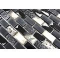 Glasmosaik XCM B03S mix schwarz 30x28,5 cm