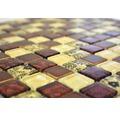 Glasmosaik XCM CB25 mix beige/rot 30x30 cm