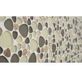 Glasmosaik XCM PGN62 mix grau beige 29,9x29,9 cm