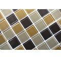 Glasmosaik CM 4555 mix braun 30,2x32,7 cm