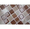 Glasmosaik CM 4290 30,2x32,7 cm beige/braun