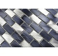 Aluminiummosaik XAM 431 mix schwarz/silber