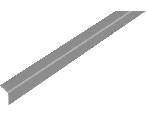 Winkelprofil Kunststoff grau metallic selbstklebend 20x20x1,5 mm, 2,6 m