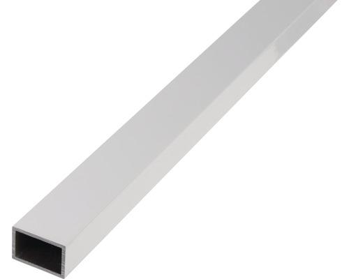 Rechteckrohr Alu silber eloxiert 50x20x2 mm, 1 m