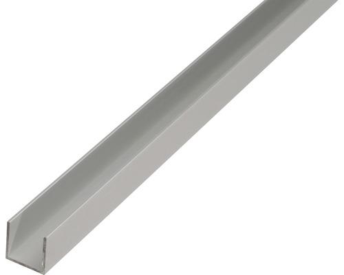 U-Profil Alu silber eloxiert 25x25x25x2 mm, 2,6 m