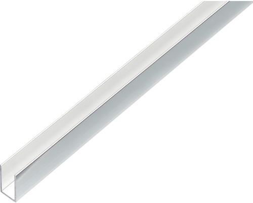 U-Profil Alu chromdesign 10x10x10x1 mm, 2 m