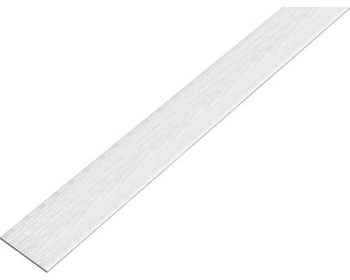 Flachstange Alu edelstahldesign hell, selbstklebend 25x2 mm, 1 m