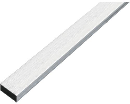 Rechteckrohr Alu edelstahldesign hell, 20x10x1 mm, 1 m