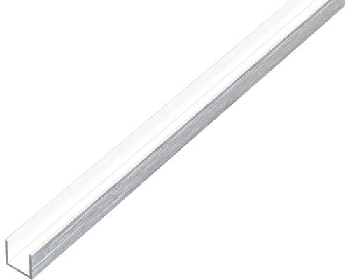 U-Profil Alu edelstahldesign hell 15x10x15x1 mm, 1 m