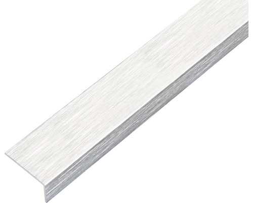Winkelprofil Alu edelstahldesign hell selbstklebend 15x10x1 mm, 1 m