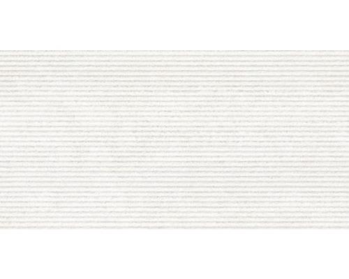 Feinsteinzeug Dekorfliese District Blanco 32 x 62,5 cm