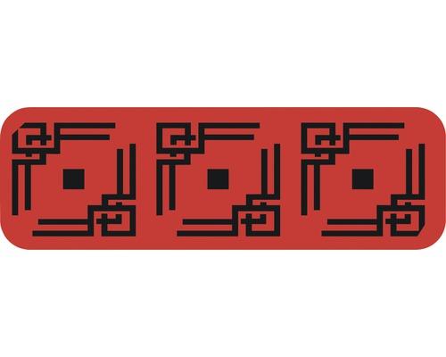 Dekorschablone Bordüre Quadrate