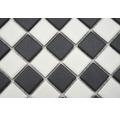 Keramikmosaik AT 149 Schachbrett 30,2x33 cm schwarz weiß