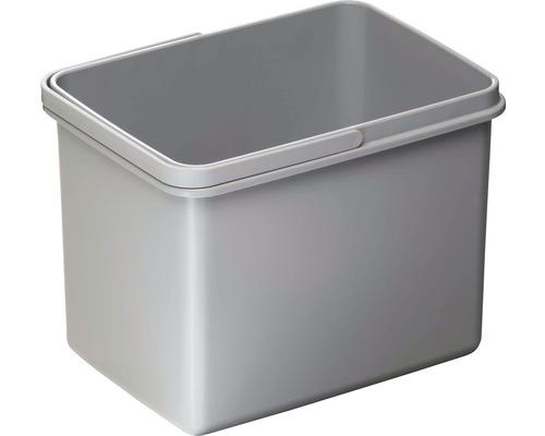 Mülleimer aus Kunststoff 12 Liter grau