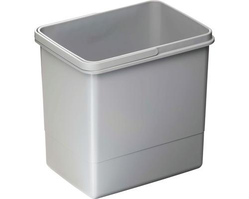 Mülleimer aus Kunststoff 15 Liter grau