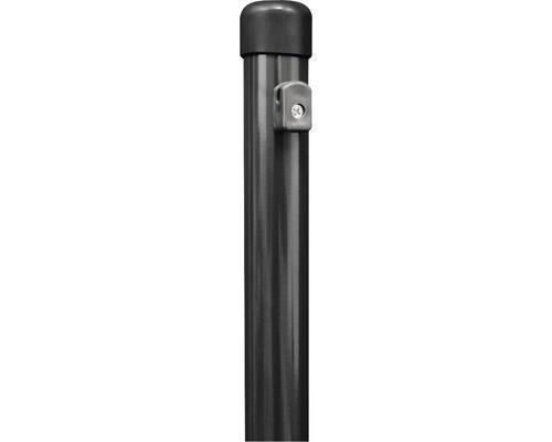 Zaunfeldpfosten GAH Alberts mit angeschraubten Spanndrahthaltern ⌀38x2000 mm anthrazit