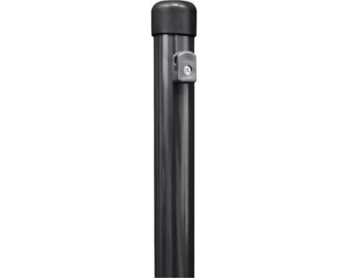 Zaunfeldpfosten GAH Alberts verkürzt mit angeschraubten Spanndrahthaltern ⌀ 34x1415 mm anthrazit