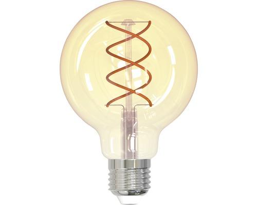 FLAIR LED Globelampe E27/4W(25W) G80 Spiral amber 245 lm 2200 K warmweiß