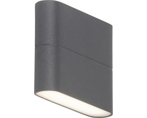 LED Außenwandleuchte 2x3W 2x250 lm 3000 K warmweiß H 90 mm Telesto anthrazit/weiß