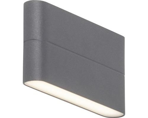 LED Außenwandleuchte 2x6W 2x475 lm 3000 K warmweiß H 90 mm Telesto anthrazit/weiß