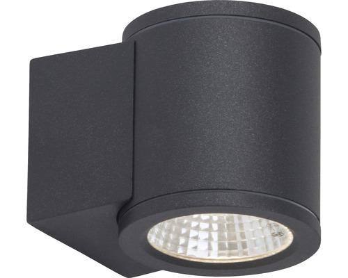 LED Außenwandleuchte 6W 550 lm 3000 K warmweiß H 95 mm Argo anthrazit