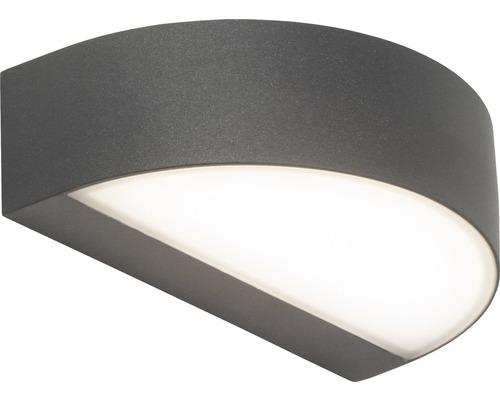 LED Außenwandleuchte 1x9W 550 lm 3000 K warmweiß B 207 mm Monido anthrazit/weiß