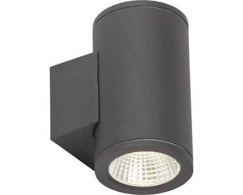 LED Außenwandleuchte 2x6W 2x550 lm 3000 K warmweiß H 138 mm Argo anthrazit