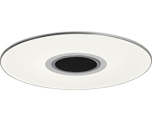 LED Deckenleuchte dimmbar 24W 1700 lm 2800-4500 K warmweiß-neutralweiß Ø 480 mm Tonic weiß/chrom + Lautsprecher + Fernbedienung