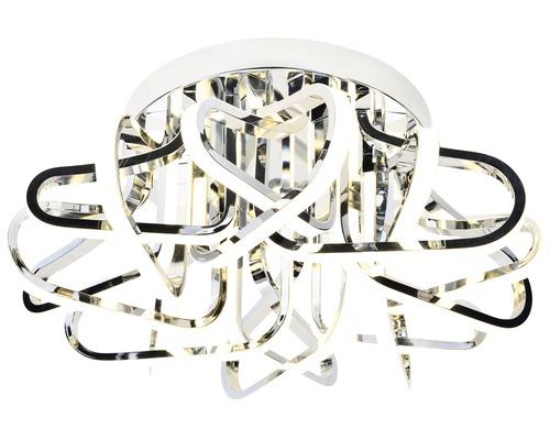 LED Deckenleuchte dimmbar 80W 8000 lm 3000 K warmweiß Ø 600 mm Kevina chrom