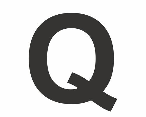 """Aufkleber Buchstabe """"Q"""" schwarz 30 mm"""