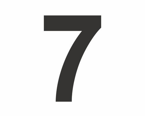"""Aufkleber Zahl """"7"""" schwarz 60 mm bei HORNBACH kaufen"""