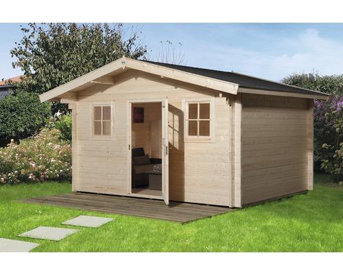 Gartenhaus Weka Mit Vordach Und Fussboden 380 X 300 Cm Natur Bei Hornbach Kaufen