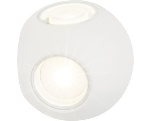LED Wandleuchte dimmbar 4x3W 4x144 lm 3000 K warmweiß Ø 100 mm Gus weiß