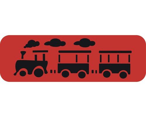 Dekorschablone Bordüre Lokomotive