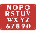 Wandschablone Buchstaben N - Z