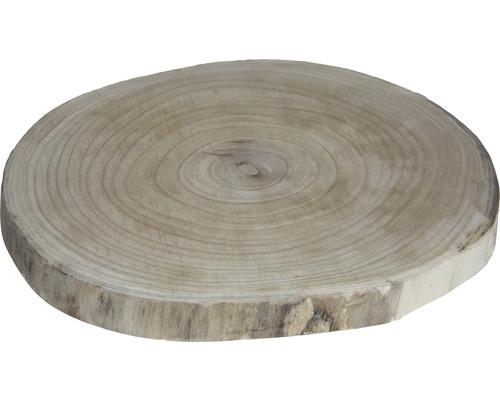 Dekoteller Baumscheibe Holz Ø 40 cm beige-braun
