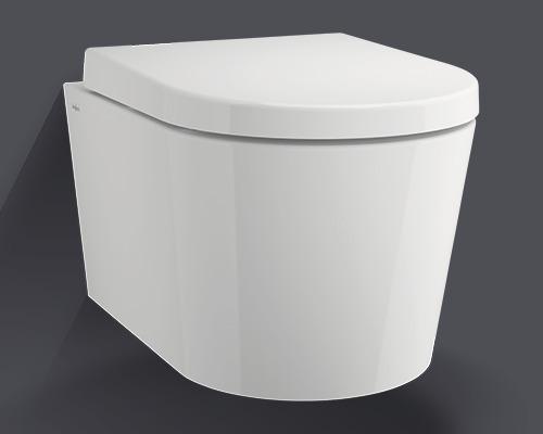 Jungborn spülrandoffenes Wand-WC Lata weiß mit WC-Sitz