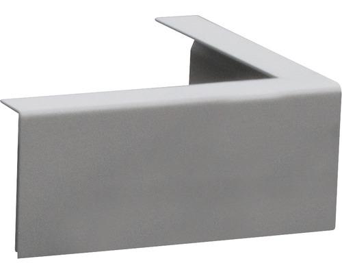 Duo Eckblende Aluminium RAL 9007