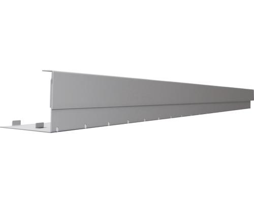 Duo Seitenverblendung Ober- und Unterteil Aluminium Höhe: 68 - 114mm L: 1900mm RAL 9007