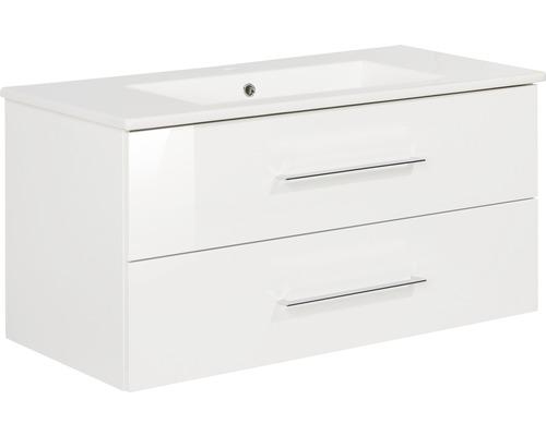 Badmöbelset FACKELMANN B.perfekt 100 cm mit Waschtisch weiß