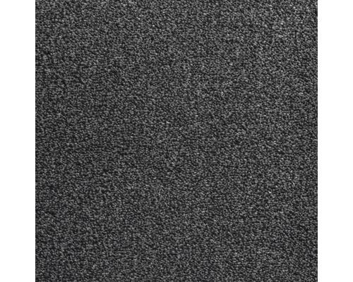 Teppichboden Velours Grace Farbe 76 anthrazit 400 cm breit (Meterware)
