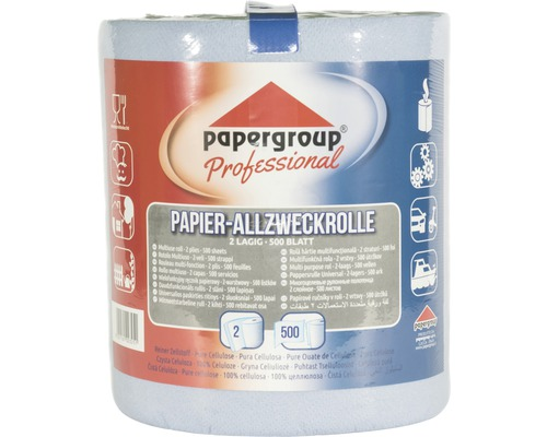 Papierrolle Allzweckrolle 2-lagig 500 Blatt blau