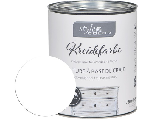 Kreidefarbe Möbelfarbe StyleColor white 750 ml