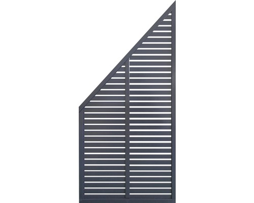 Abschlusselement Konsta Cosmo 91 x 178/85 cm anthrazit