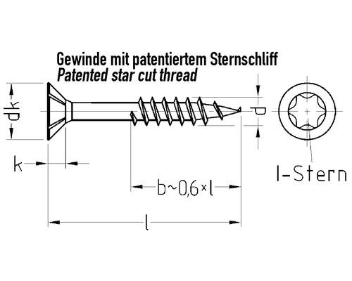 JD Plus Universalschraube Senkkopf m. I-Stern 3 x 30 mm, Galv. verz.gelb chromat. 200 Stück