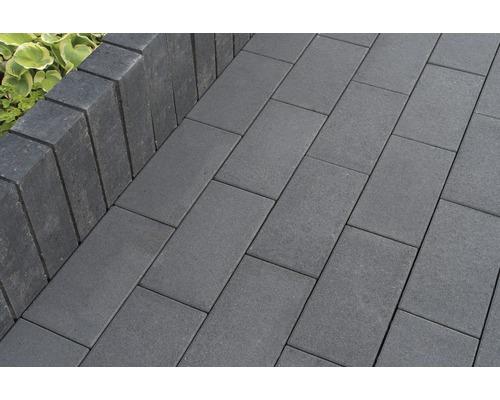 Pflasterstein Rechteckpflaster New York basalt 40 x 20 x 8 cm mit Glimmer