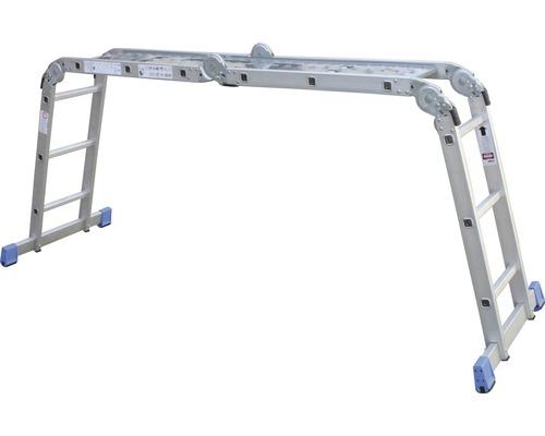 3,60 m Aluminium-Klappleiter mit nivello/®-Traverse2 x 4 Sprossen Arbeitsh/öhe bis ca